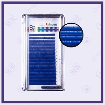 Ресницы цветные Be Perfect Rainbow Blue Mix