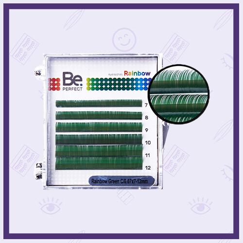 Ресницы цветные Be Perfect Rainbow Mix 6 линий