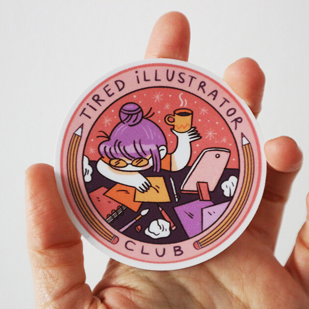 STICKER - Tired Illustrator Club