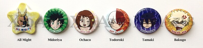 My Hero Academia Mood Buttons 2.75 in.