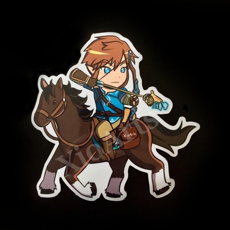 Link on Horseback Sticker 3 in.