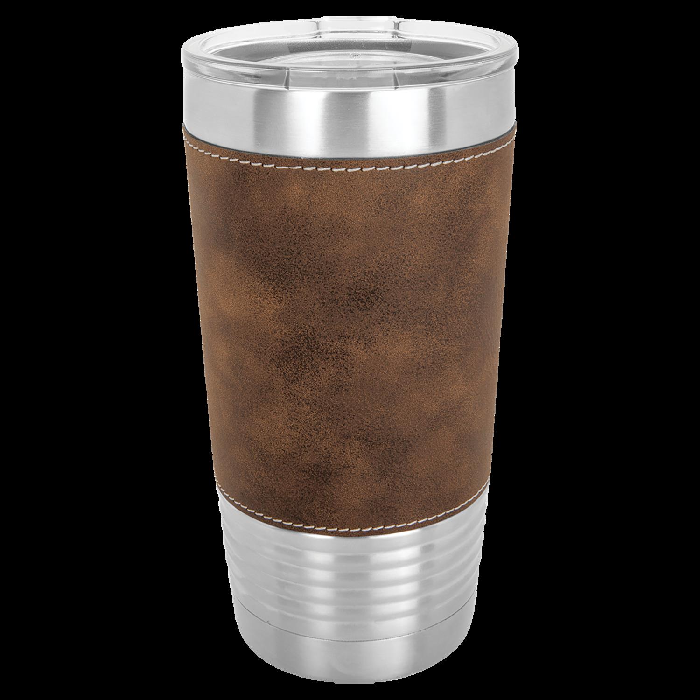 20oz Leatherette Travel Mug