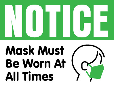 Wear Mask At All Times Sign