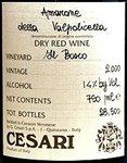 Cesari Amarone della Valpolicella Classico Il Bosco 2011 (750 ml)