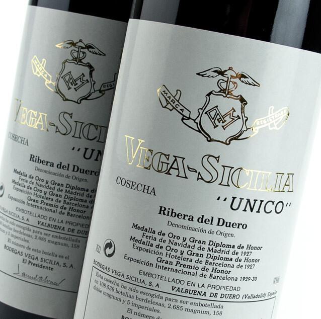 Vega Sicilia Unico Gran Reserva, Ribera del Duero 2008 (750 ml)