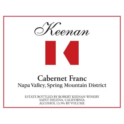 Robert Keenan Winery 'Keenan' Cabernet Franc, Spring Mountain District 2014 (750 ml)