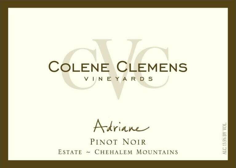 Colene Clemens Vineyards 'Adriane' Pinot Noir, Chehalem Mountains 2014 (750 ml)