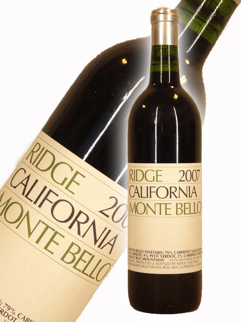 Ridge Vineyards Monte Bello, Santa Cruz Mountains 2007 (750 ml)