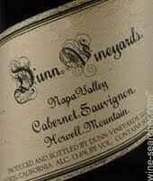Dunn Vineyards Howell Mountain Cabernet Sauvignon 2015 (750 ml)