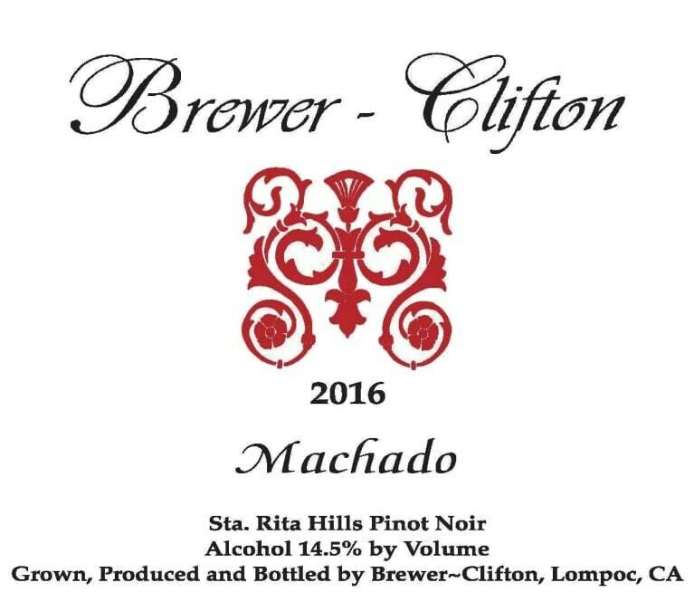 Brewer-Clifton Machado Pinot Noir, Sta Rita Hills 2016 (750 ml)
