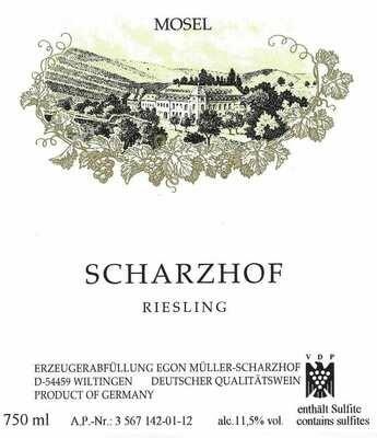 Egon Muller 'Scharzhof' Riesling, Mosel 2018 (750 ml)
