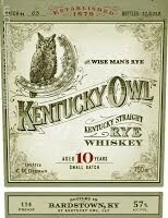 Kentucky Owl The Wise Man Rye Batch Three Straight Whisky 10 Year Old 114 Proof (750 ml)