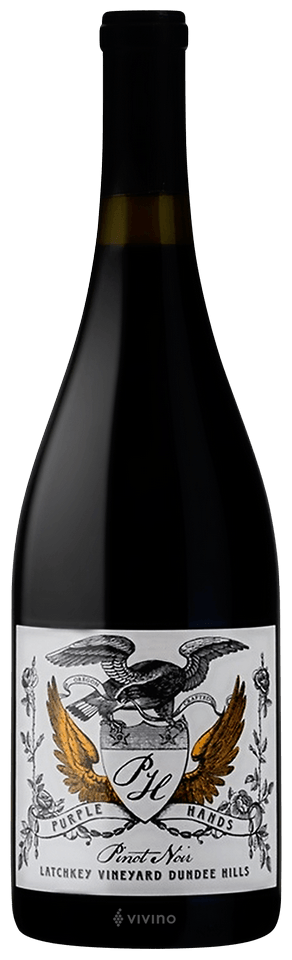 Purple Hands Latchkey Vineyard Pinot Noir 2017 (750 ml)