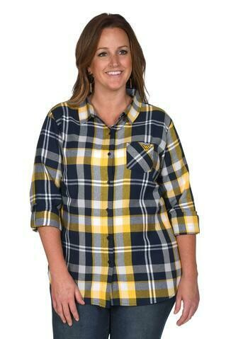 WV BOYFRIEND PLAID BUTTON-UP 1X UG