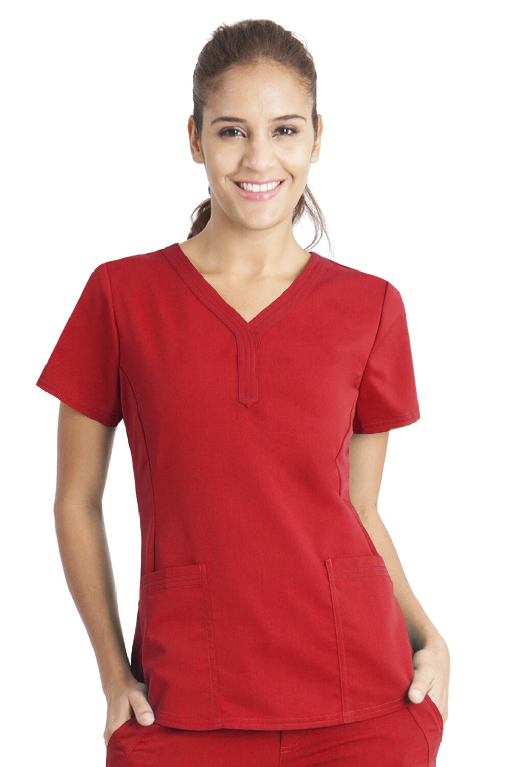 2167 JANE TOP - PL 3XL RED