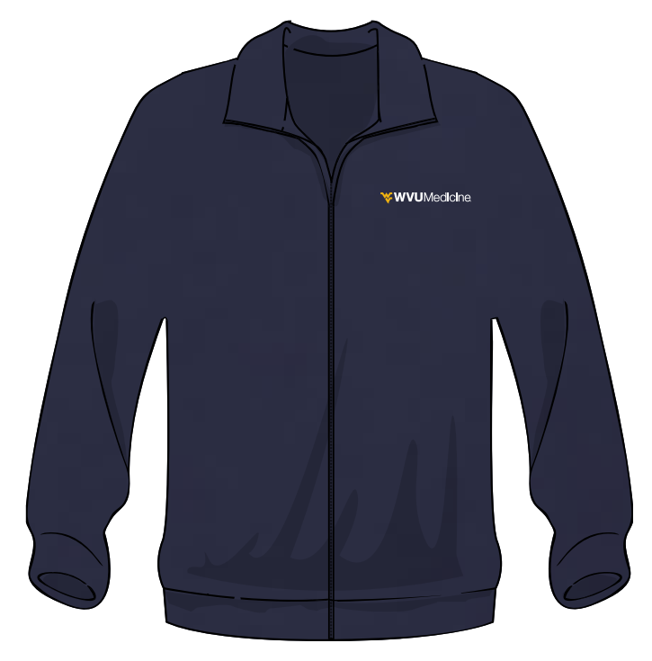 WVU MEDICINE FLEECE XL Navy