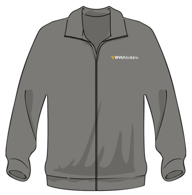 WVU MEDICINE FLEECE XS Gray