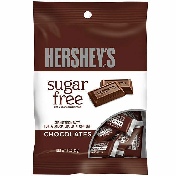 HERSHEY SUGAR FREE MILK CHOCOLATE 3oz BAG