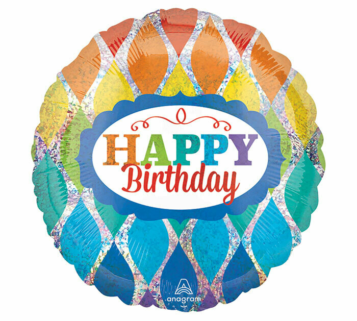 "18"" HAPPY BIRTHDAY BRIGHT DIAMOND BALLOON"