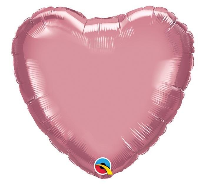 "20"" CHROME SOLID HEARTS MAUVE"