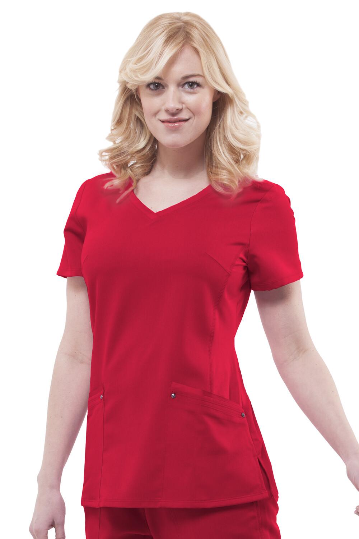2245 JULIET TOP - RED RED XL