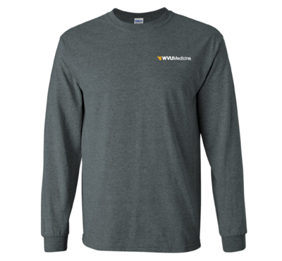 WVU MEDICINE L/S TEE 2400 HEATHER XL