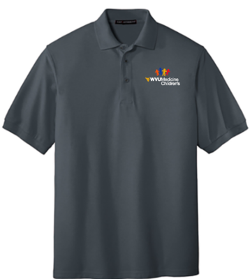CHILDRENS HOSPITAL MEN'S POLO #7391 MEN'S L GREY