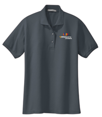 CHILDRENS HOSPITAL LADIES POLO #7396 GREY M LADIES