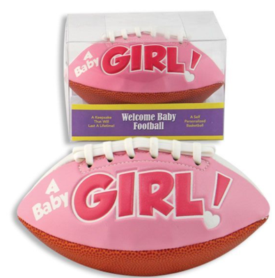 KEEPSAKE/ANNOUNCEMENT FOOTBALL GIRL