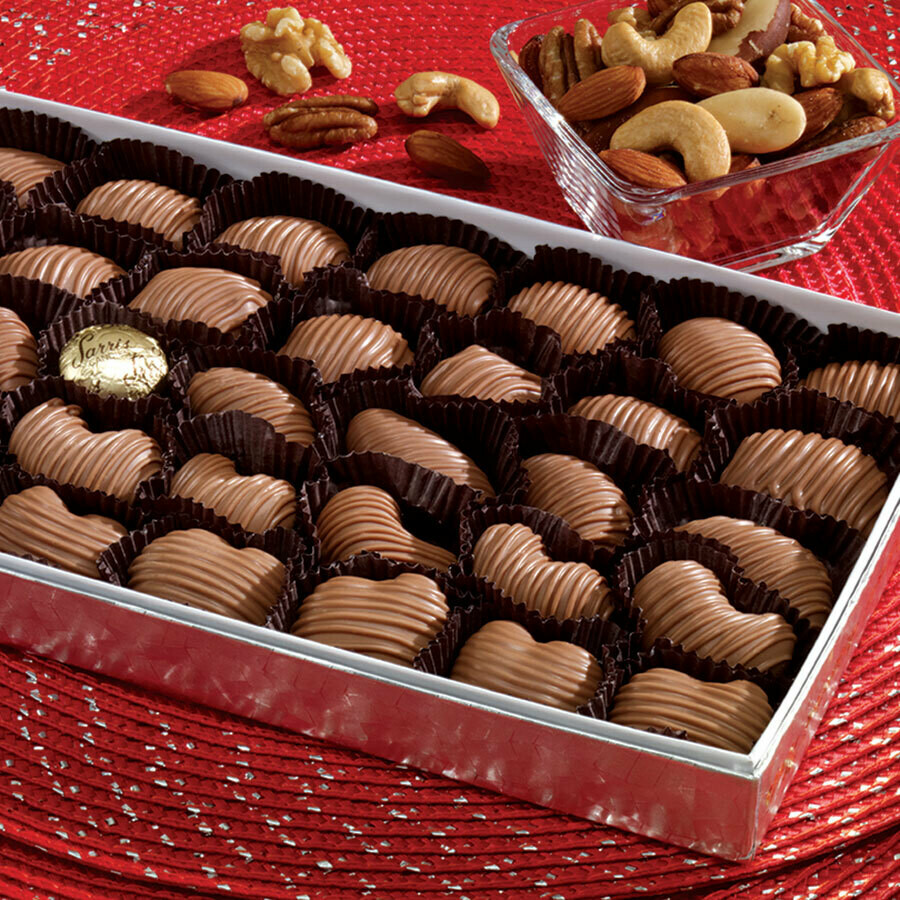 SARRIS CANDY CHOCOLATE COVERED ALMONDS 8 OZ