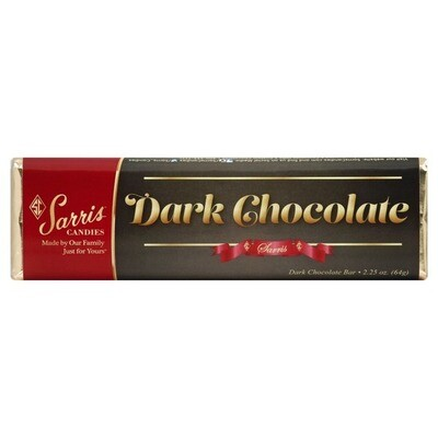 SARRIS CANDY DARK CHOCOLATE BAR