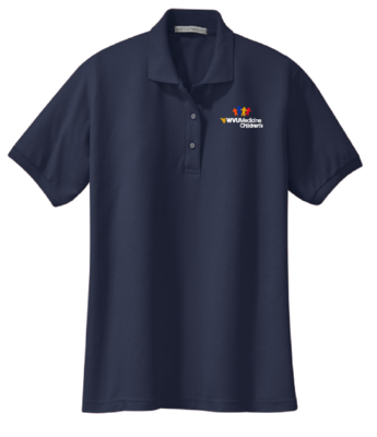 CHILDRENS HOSPITAL LADIES POLO #7396 NAVY L LADIES