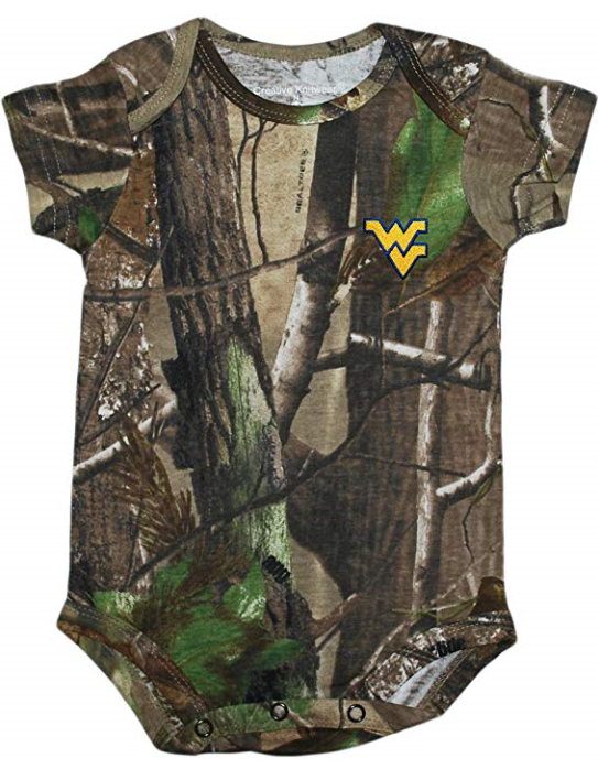 WV BODYSUITS CAMO 0-12 MONTH 0-3 MONTH