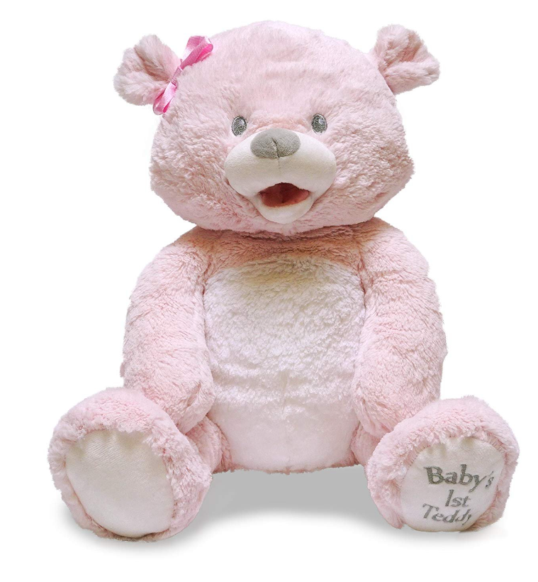 BABY'S 1ST SINGING TEDDY BEAR PINK