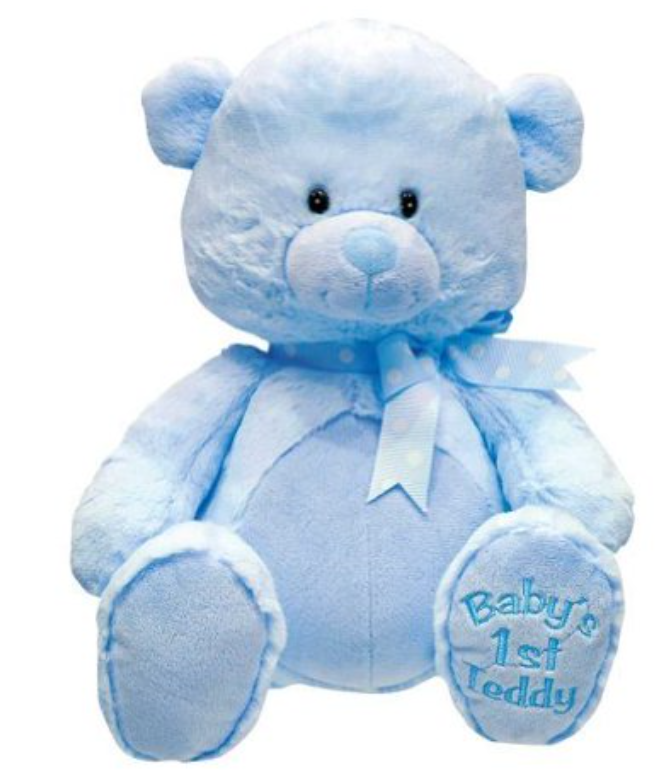 BABY'S 1ST LULLABY TEDDY BEAR BLUE