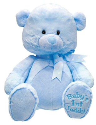 BABY'S 1ST SINGING TEDDY BEAR BLUE