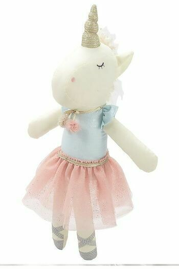 "16"" UNICORN DOLL - ASSORTED GREEN TOP"