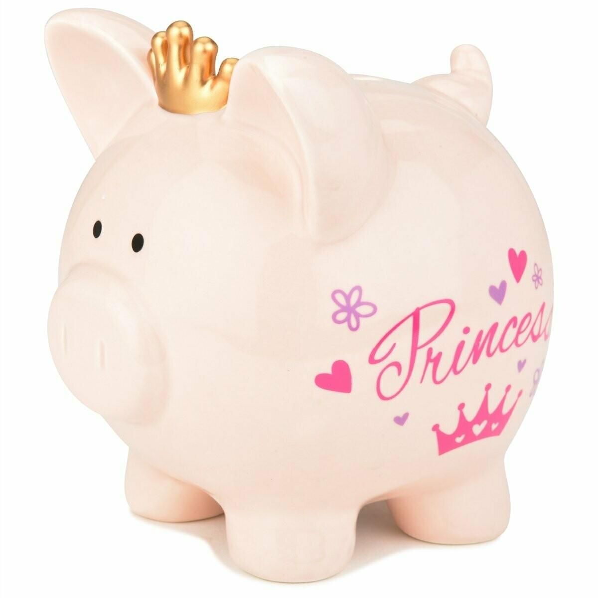PIG SHAPE BANK PRINCESS PIG