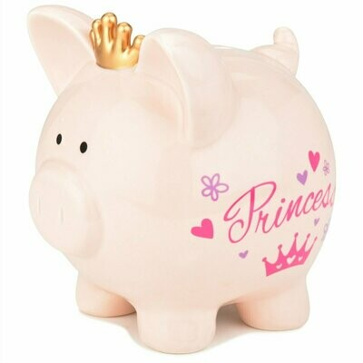 PIG SHAPE BANK PRINCESS PIG