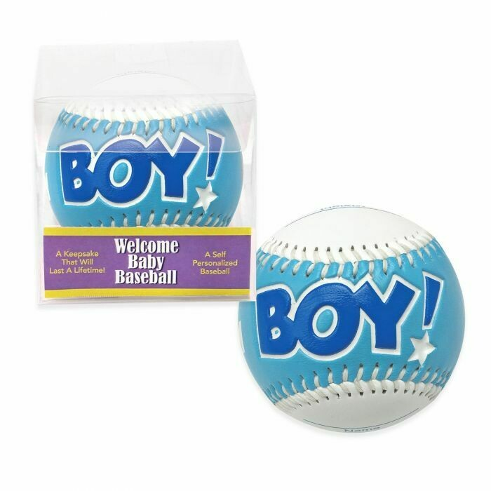 "3"" BABY BASEBALL W/GIFT BOX BLUE"
