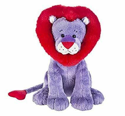 """10"""" PURPLE LION W/ RED HEART MANE"""