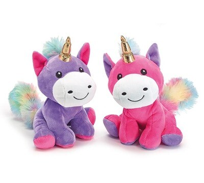 PURPLE VALENTINE UNICORN PLUSH