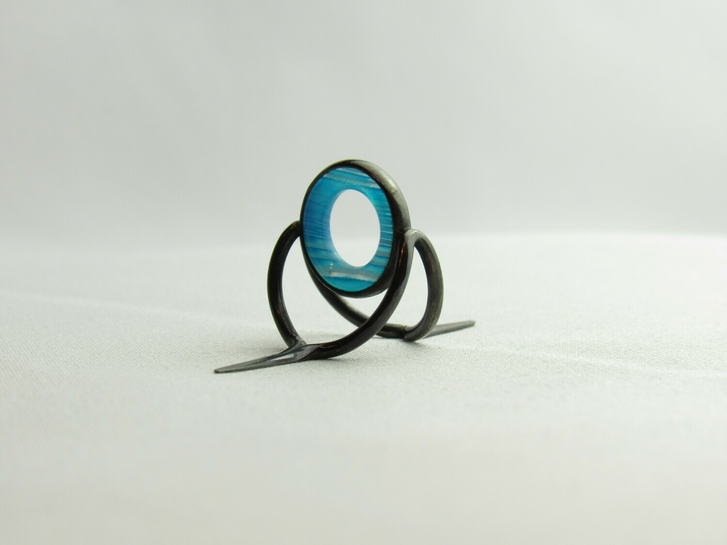 Agate Perfect Stripping Guide Ring 10mm Blue / banded