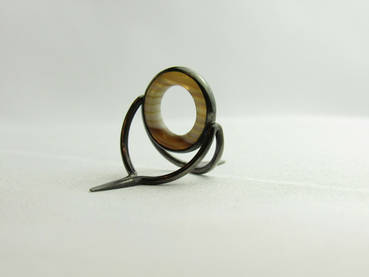 Agate Perfect Stripping Guide Ring 12mm coffe milk / banded