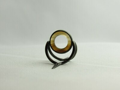 Agate Perfect Stripping Guide Ring 10mm brown clear / banded