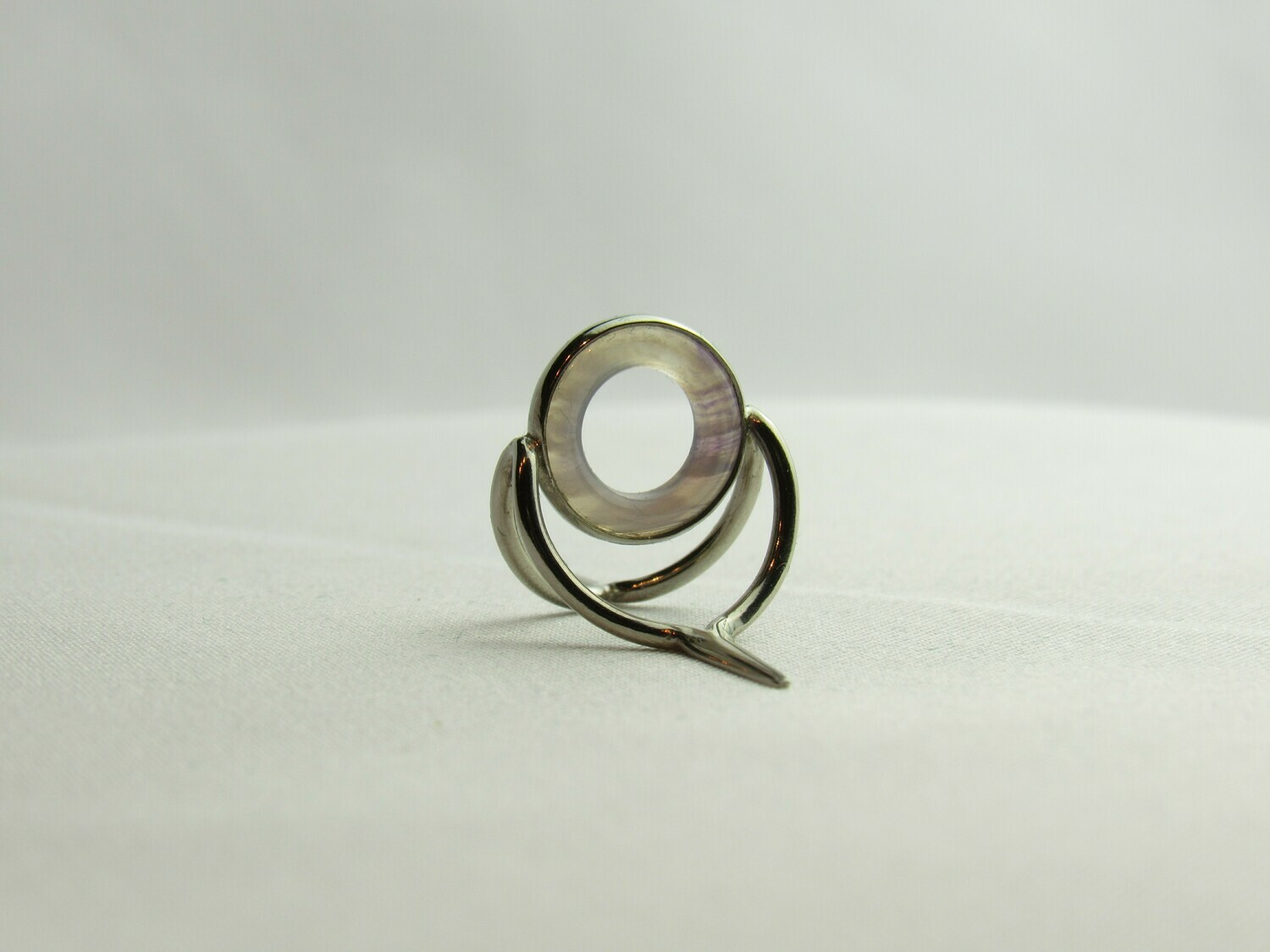 Agate Perfect Stripping Guide Ring 10mm purple clear / banded