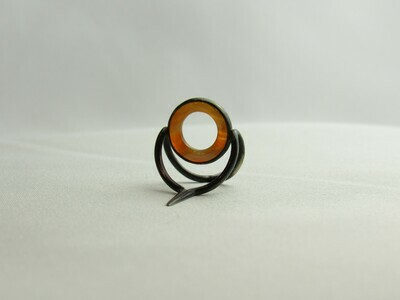 Agate Perfect Stripping Guide Ring 10mm red brown clear / banded