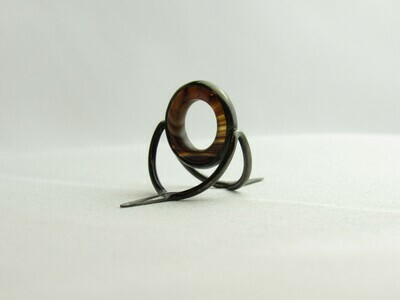 Agate Perfect Stripping Guide Ring 12mm brown white / banded