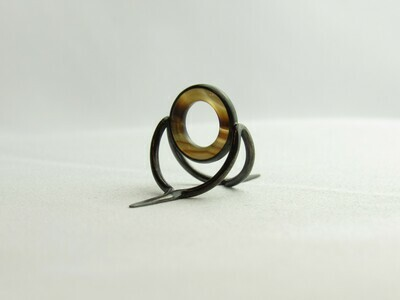 Agate Perfect Stripping Guide Ring 10mm brown white / banded