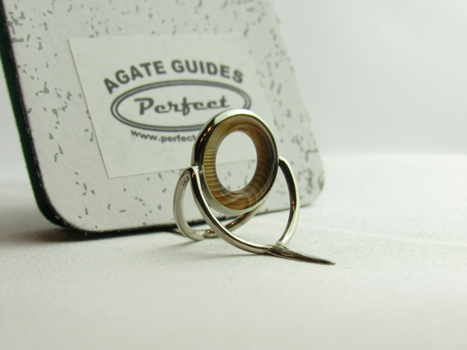Agate Perfect Stripping Guide Ring 12mm brown coffe milk banded